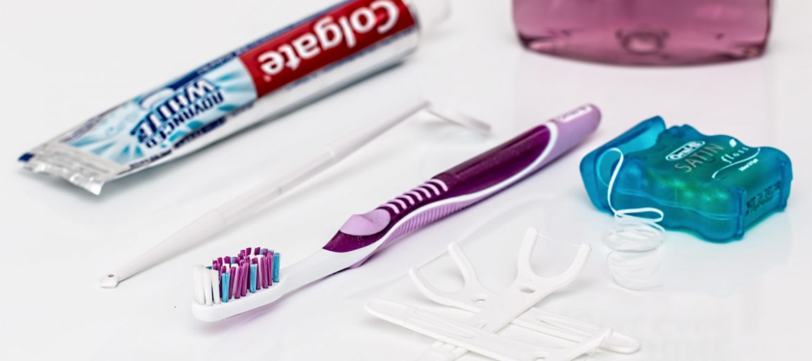 Selection of dental hygiene products available from Barrington Dental Care in Altrincham for the prevention of gum disease